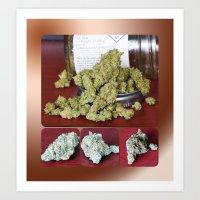 Mob Boss Cannabis Flower Collage Art Print