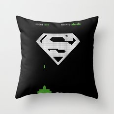 Super Invader Throw Pillow