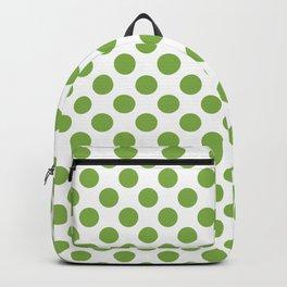 Polka dots - greenery Backpack