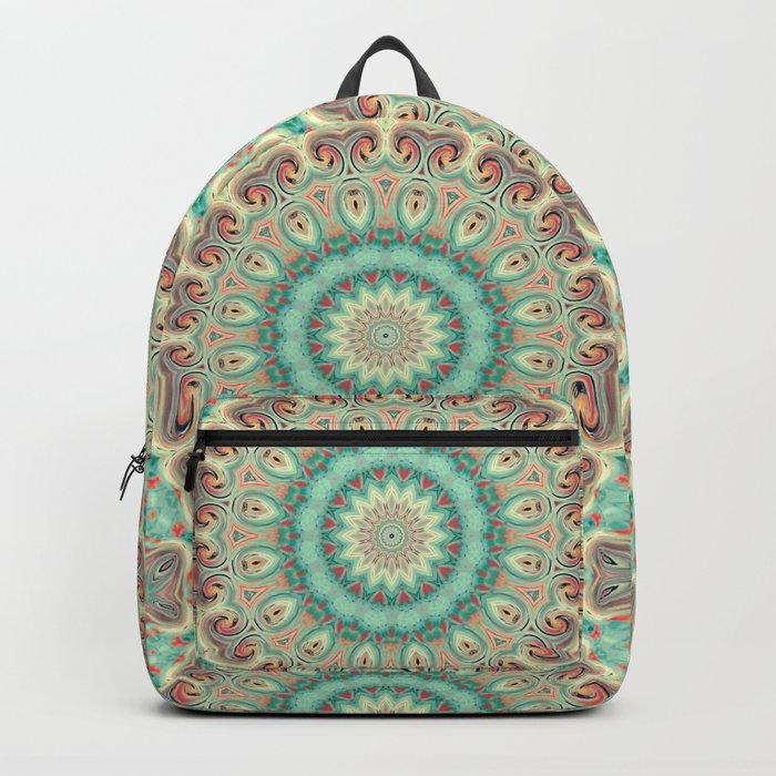 Kaleidoscope . Turquoise. Backpack