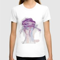 ostrich T-shirts featuring Ostrich Painter by Ahmad Mujib