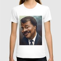 neil gaiman T-shirts featuring Neil Degrasse Tyson Caricature by Jared Hobson