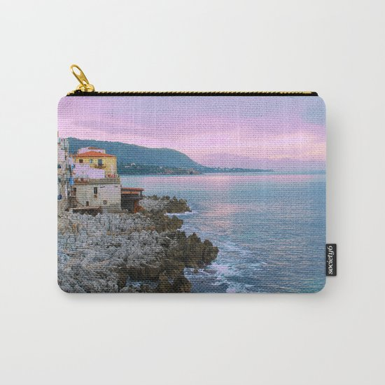 Cefalu Italy Coast Sunset Carry-All Pouch