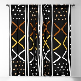 Abstract African Mudcloth Blackout Curtain