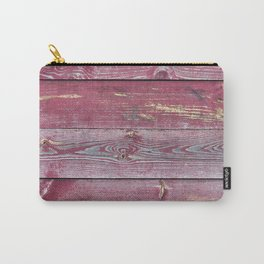 Pink Barn Wood Carry-All Pouch