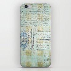 carnet de chèques iPhone & iPod Skin