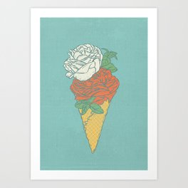 Rose ice cream Art Print