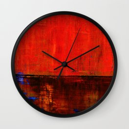 Simon Carter Painting Road Of Olives Wall Clock