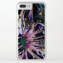 Acid blossom cherry Clear iPhone Case
