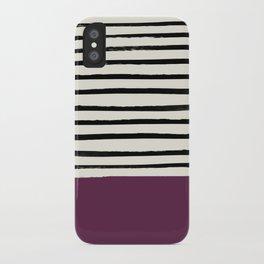 Plum x Stripes iPhone Case