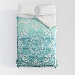 Mandala : Aqua Sunset Waters Comforters