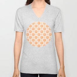 Citrus Orange Slice Pattern Unisex V-Neck