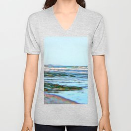 Beautiful abstract ocean view Unisex V-Neck