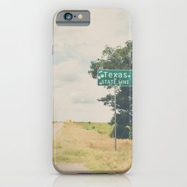 Texas state line ... iPhone Case