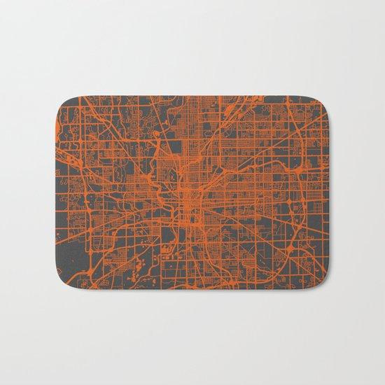 Indianapolis map Bath Mat