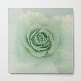 Dreamy Vintage Floating Rose Metal Print