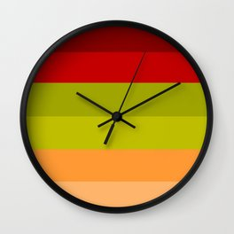 Warm Bright Autumn Leaves - Color Therapy Wall Clock