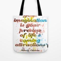 Imagination / Albert Einstein Tote Bag