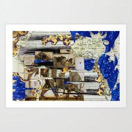 Elephant travels Art Print
