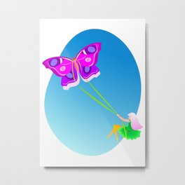 Butterflight Metal Print