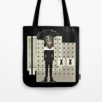 gladiator Tote Bags featuring Ga Ga Gladiator by Studio Judith