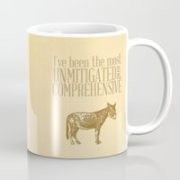 pride and prejudice Mugs featuring Pride and Prejudice Apology...  by studiomarshallarts