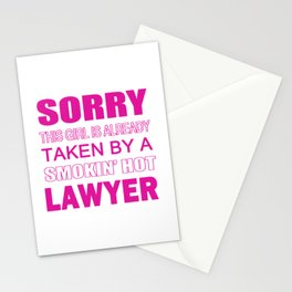 TAKEN BY A LAWYER Stationery Cards