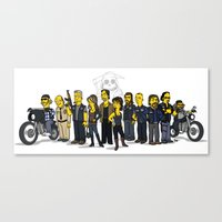 sons of anarchy Canvas Prints featuring Sons Of Anarchy cast by Adrien ADN Noterdaem