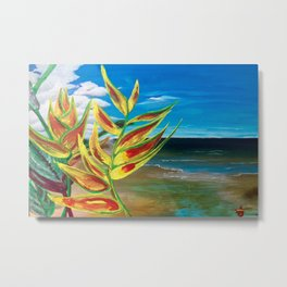 Heliconia Tropical Parrot Plant Take Me There Metal Print