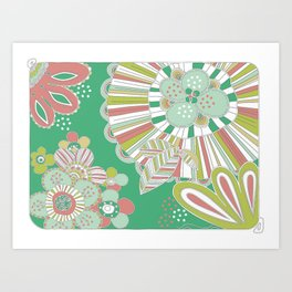Vector pattern with flowers Art Print