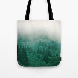 Misty Moody Mountain Forest Fog Northwest Oregon Washington Tote Bag