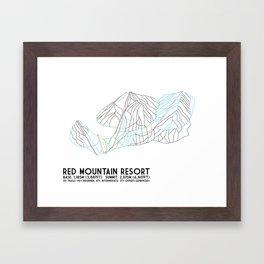 Red Mountain Resort, BC, Canada - Minimalist Trail Art Framed Art Print