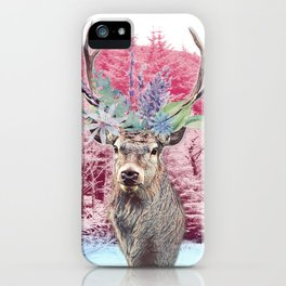 Floral Stag iPhone Case