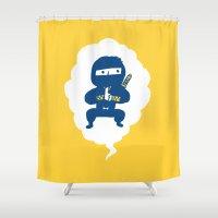 ninja Shower Curtains featuring Ninja by taichi_k