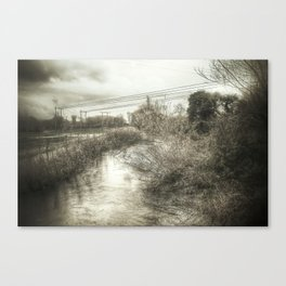 Whimsical Water Landscape Canvas Print