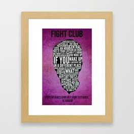 Typography Narrator Framed Art Print