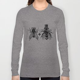 a fly marrying a bumblebee Long Sleeve T-shirt