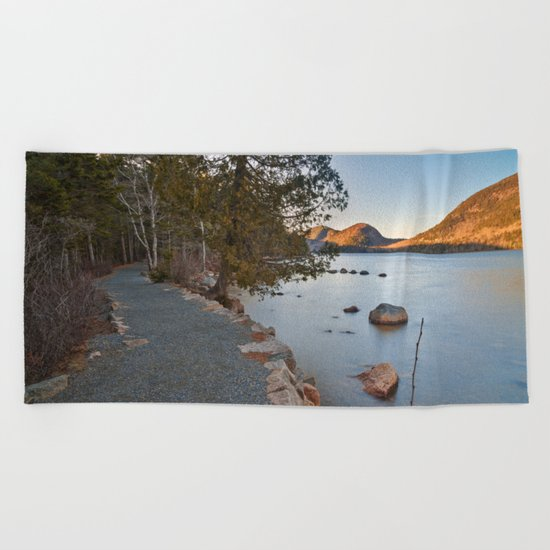Jordan Pond Trail Beach Towel