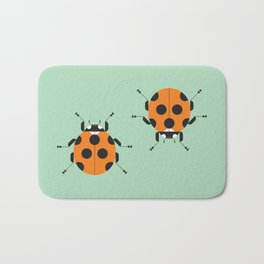 Lady Bug Green Bath Mat