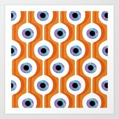 Eye Pod Orange Art Print