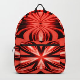 Electric Red Pattern Backpack