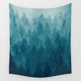 Misty Pine Forest Wall Tapestry