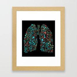 lung life Framed Art Print