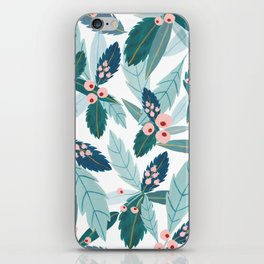 Blue Florals iPhone Skin