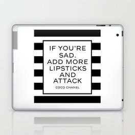 Fashion Quote  Fashion Print Fashionista Girl Bathroom Decor Girl Room Decor CC Lipstick Quote Laptop & iPad Skin