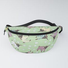 Pajama'd Baby Goats - Green Fanny Pack