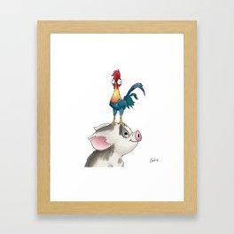 hei hei & pua Framed Art Print