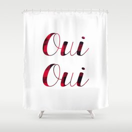 Oui Oui Tartan Shower Curtain