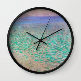 Klimt - Lake Attersea (new editing) Wall Clock