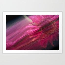 Abstract Pink Gerbera Daisy-Fleur Blur Series Art Print